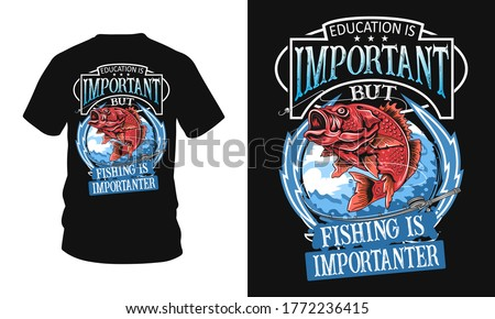 Education is important but fishing importanter - Fishing t-shirt design, fishing vector, logo, vector