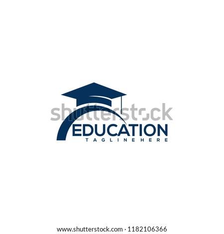 education logo icon design, vector illustration