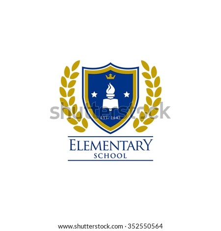 Education Logo Template, badge and shield