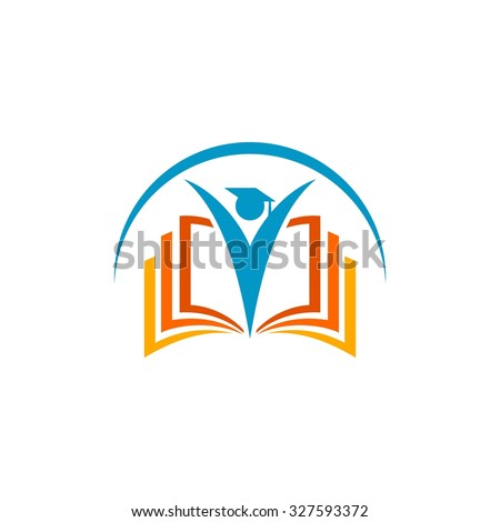 Education Logo Template. Swoosh modern education logo series