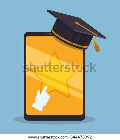 Education online or elearning theme design, vector illustration graphic