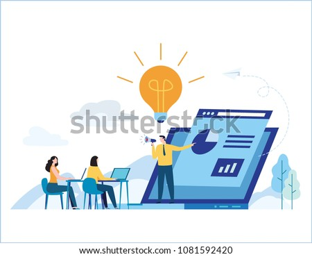 Education online training courses vector illustration.