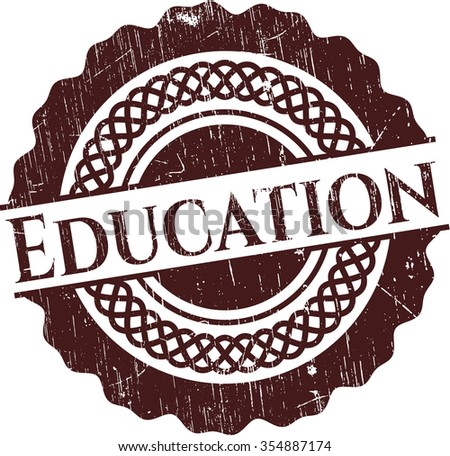 Education rubber grunge seal