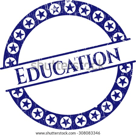 Education rubber grunge stamp