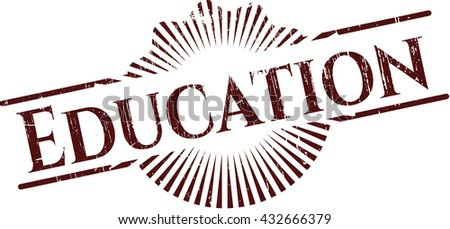 Education rubber grunge texture seal