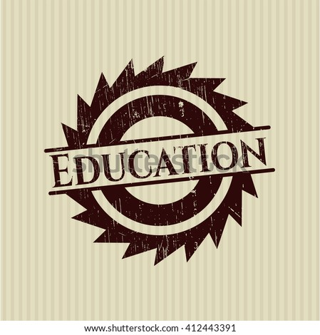 Education rubber grunge texture stamp