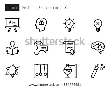 Education, School and Learning Line Vector icons set 3
