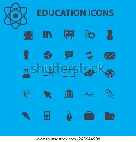 education  science icons  signs