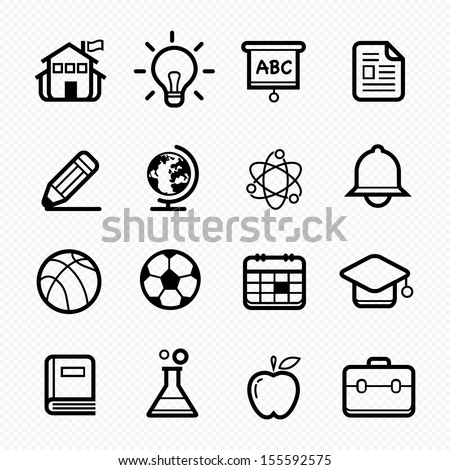 Education symbol line icon on white background