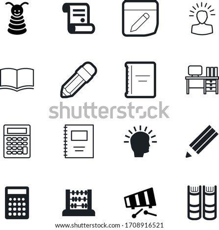 education vector icon set such