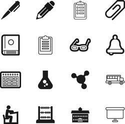 education vector icon set such as: textbook, biology, attach, survey, vehicle, eye, count, calendar, liquid, tick, model, work, structure, notification, court, greece, fashion, building, experiment