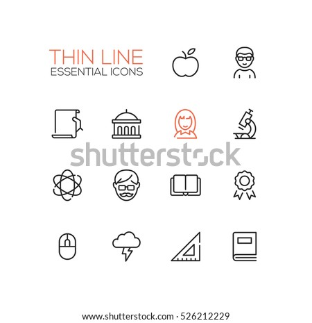 Education - vector icons set.
