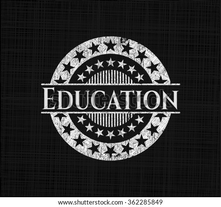 Education with chalkboard texture