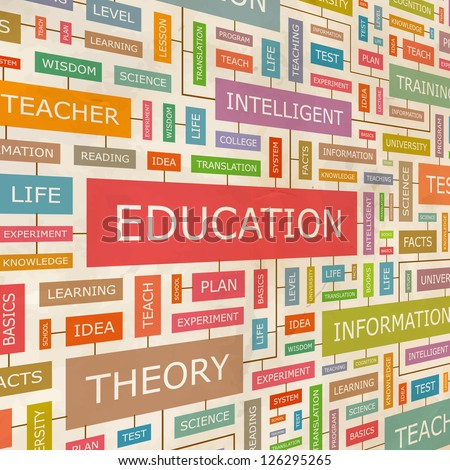 EDUCATION. Word collage. Vector illustration.