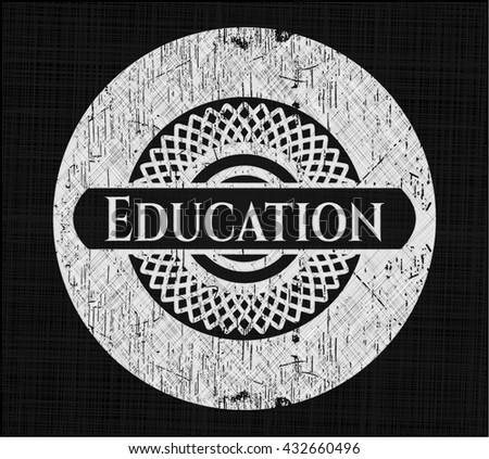 Education written on a chalkboard