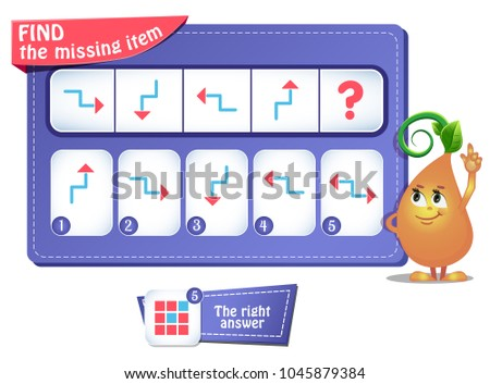 educational game for kids and adults development of logic, iq. Task game for children  what comes next?
