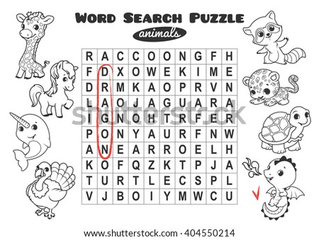 Game design for animal word puzzle - Download Free Vectors