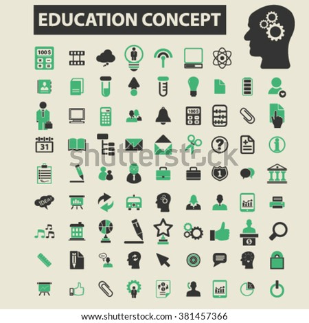 educational icons icons