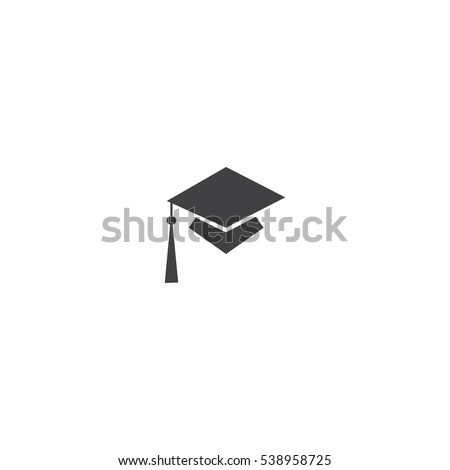 Educations. Graduation Cap Vector Icon.