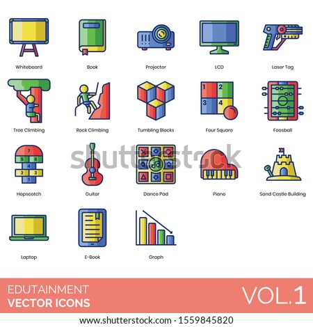 edutainment icons including
