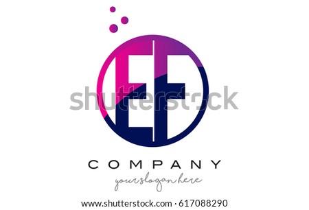 ef e f circle letter logo