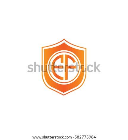 ef letter logo circle shape