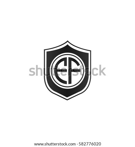 ef letter logo circle shape