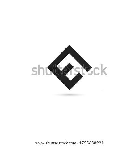 EF letter mark or monogram negative space logo design template. E F letter logo symbol or icon. Stok fotoğraf ©