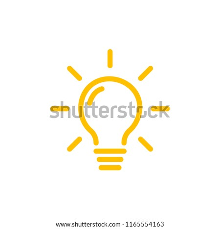 Effective thinking concept solution bulb icon with innovation idea. Solution isolated symbol. Stockfoto ©