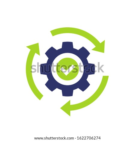 efficiency and productivity icon, vector