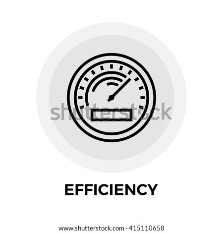 Efficiency icon vector. Flat icon isolated on the white background. Editable EPS file. Vector illustration.