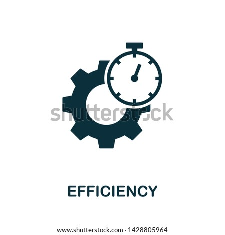 Efficiency vector icon illustration. Creative sign from quality control icons collection. Filled flat Efficiency icon for computer and mobile. Symbol, logo vector graphics. ストックフォト ©