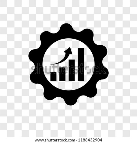 Efficiency vector icon isolated on transparent background, Efficiency transparency logo concept ストックフォト ©