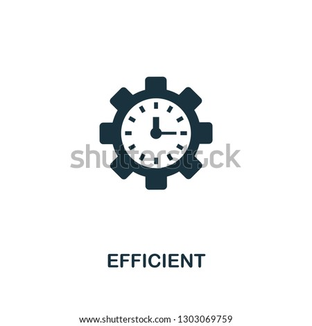 Efficient icon. Premium style design, pixel perfect efficient icon for web design, apps, software, printing usage.