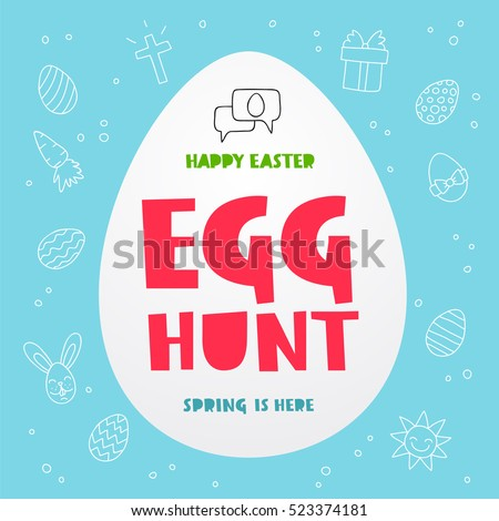egg hunt happy easter spring