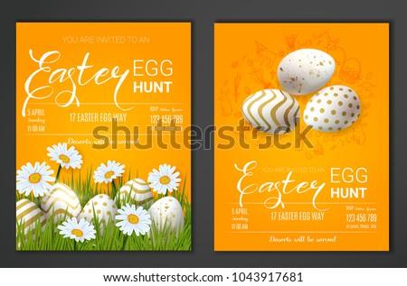 egg hunt invitation template