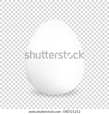 Egg on a transparency background. Natural ecological product. Healthy food. Dietary meal. Easter symbol. Vector illustration #580721212