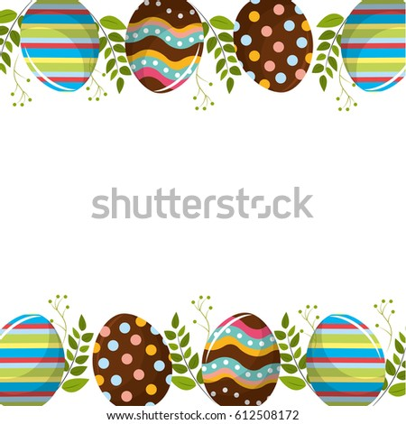 eggs easter with branches plant decorative