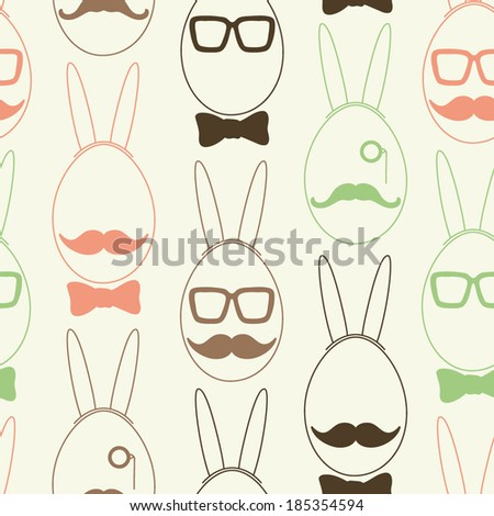 eggs with bunny ears  fashion