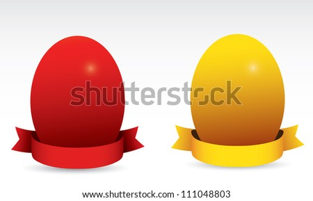 Eggs with  ribbons. Vector