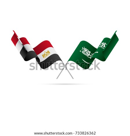 egypt and saudi arabia flags