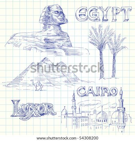 egypt doodles