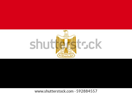 Egypt Flag, official colors and proportion correctly. National Egypt Flag vector. Egypt Flag vector illustration. Egypt Flag vector background. Egyptian banner. Egyptian banner vector. Egyptian banner