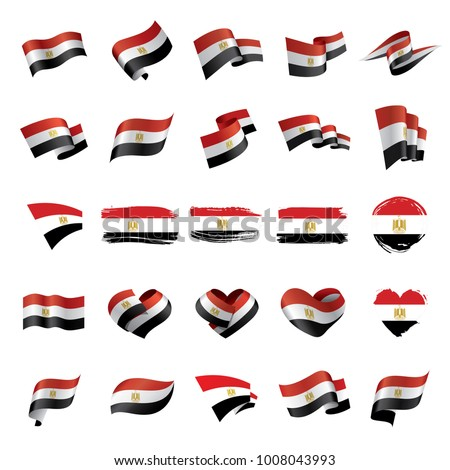 Egypt flag, vector illustration