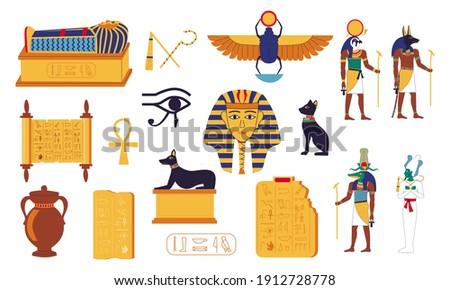 egypt hieroglyphs cartoon
