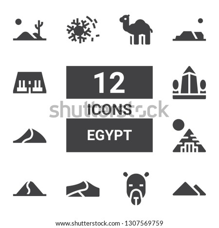 egypt icon set collection of