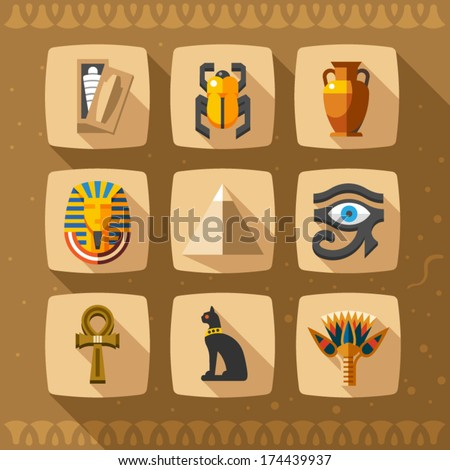 egypt icons and design elements