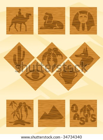 Egypt icons, vector illustration, EPS file included
