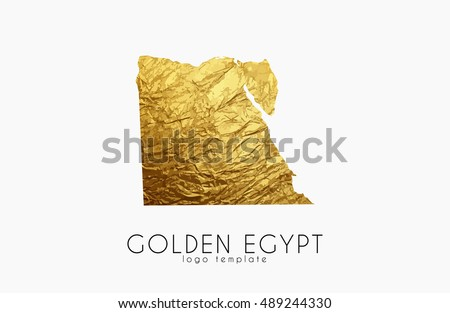 egypt map golden egypt logo