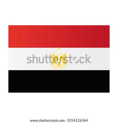 egypt national flag on white